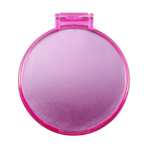 Plastic single mirror in pink