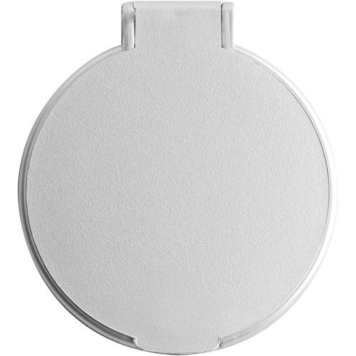 Plastic single mirror in silver