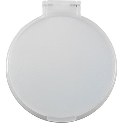 Plastic single mirror in white