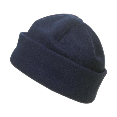 Fleece hat. in blue
