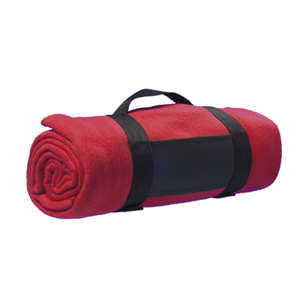 Fleece blanket in red