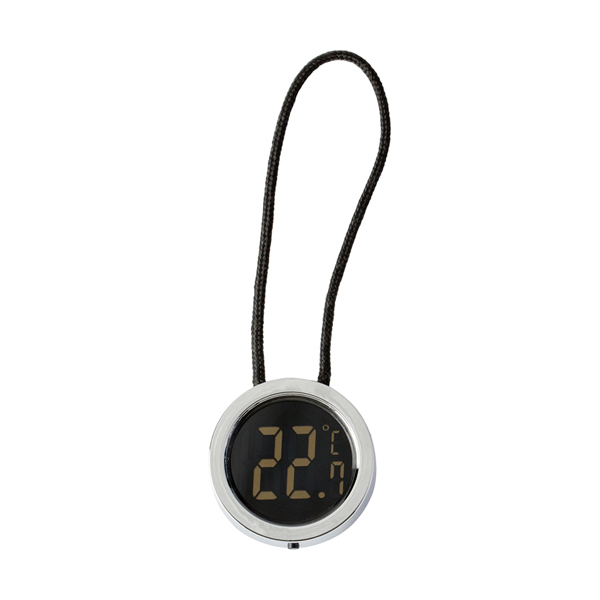 Plastic digital wine thermometer. in black-and-silver