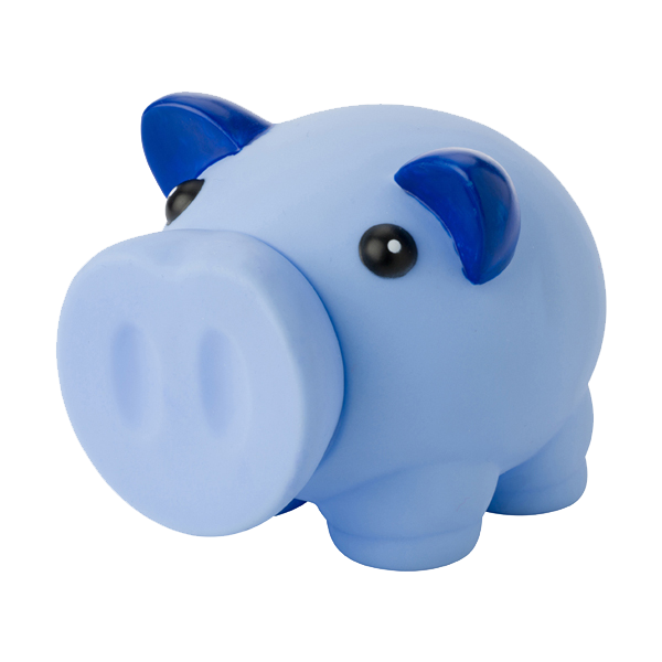 Plastic piggy bank in pink