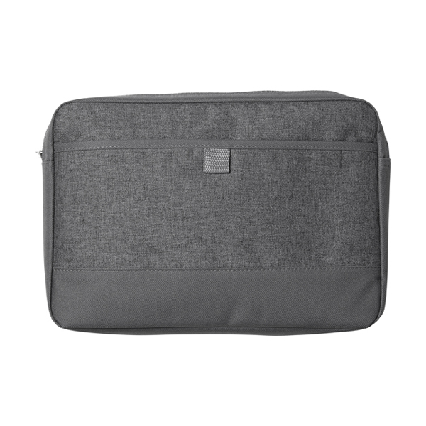 Laptop bag made from 600D polycanvas. in grey