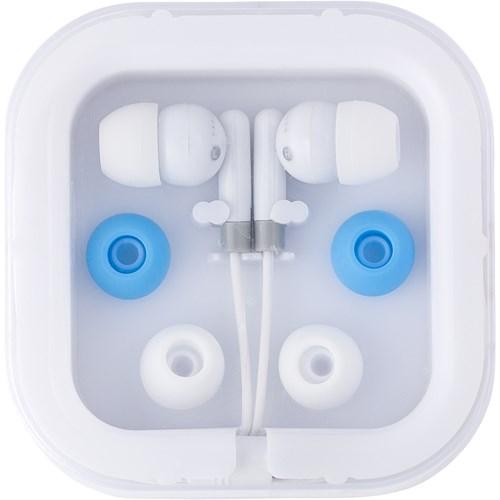 Pair of earphones. in yellow