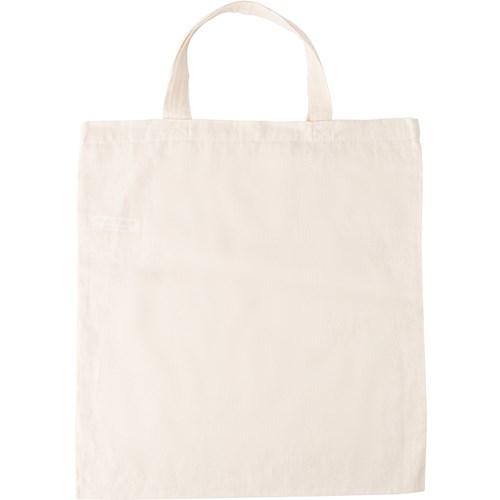 Bag with short handles, Natural in khaki