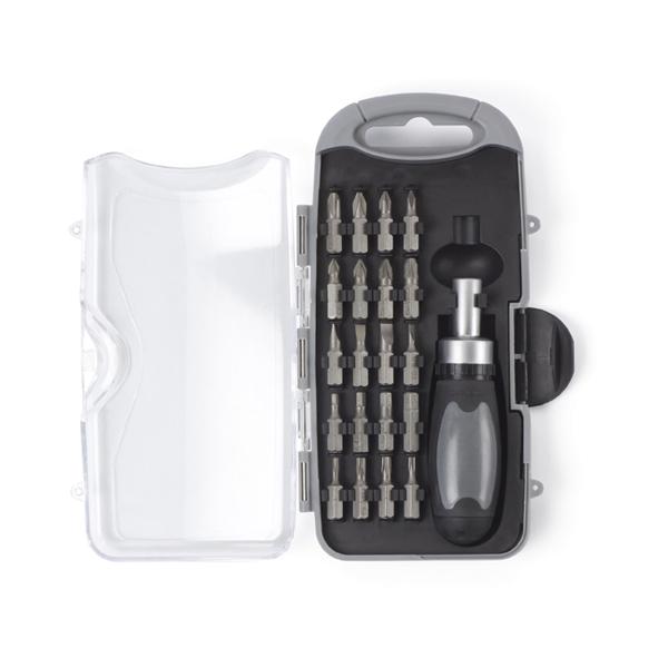 Ratchet screwdriver set. in light-grey