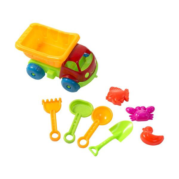 Plastic dump truck.