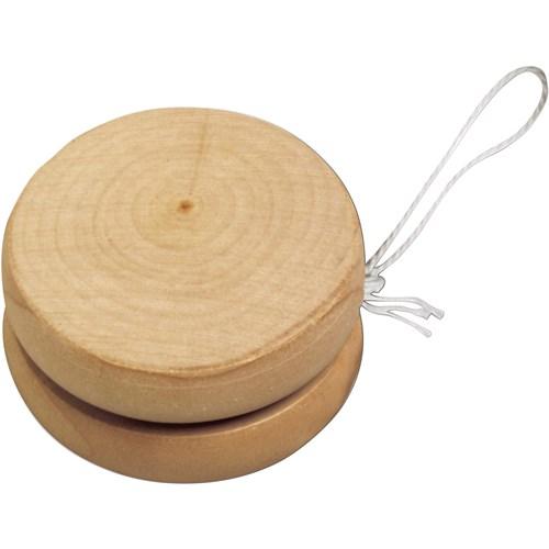 Wooden yo-yo in natural