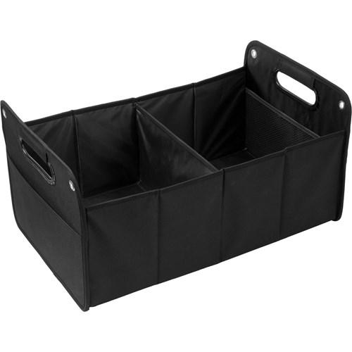 Foldable car organizer. in black