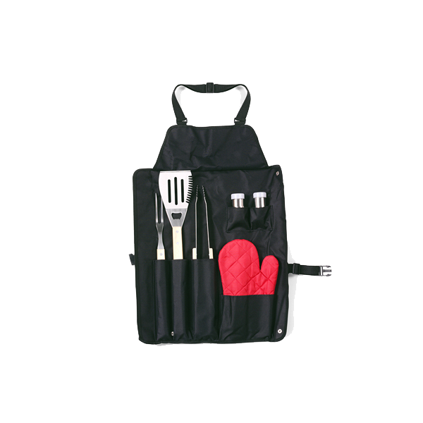 Barbecue set, 6pc  in black