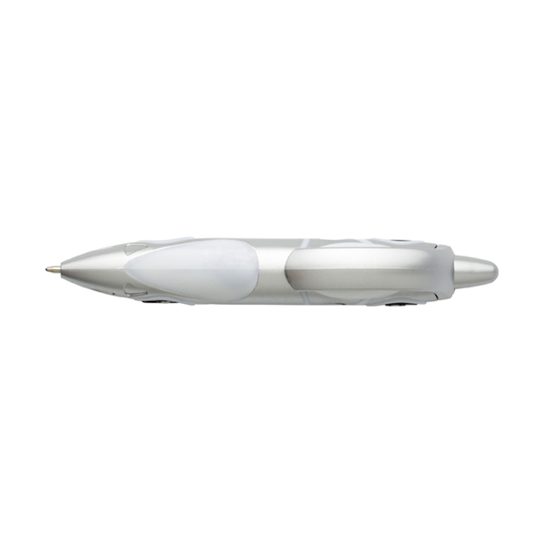 Car ballpen. in white-and-silver