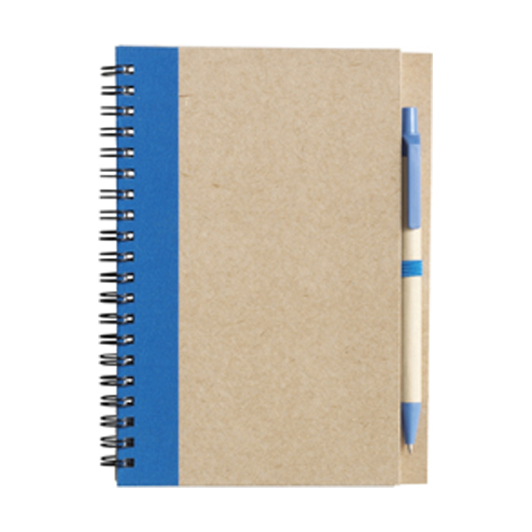 Recycled notebook. in light-blue