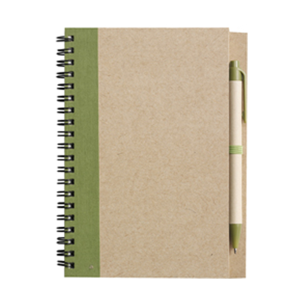 Recycled notebook. in light-green