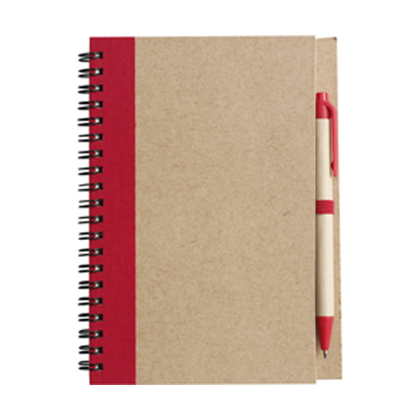 Recycled notebook. in red
