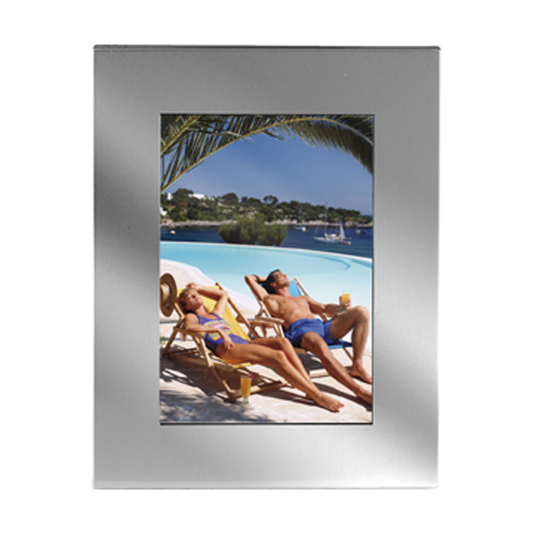Aluminium photo frame in silver