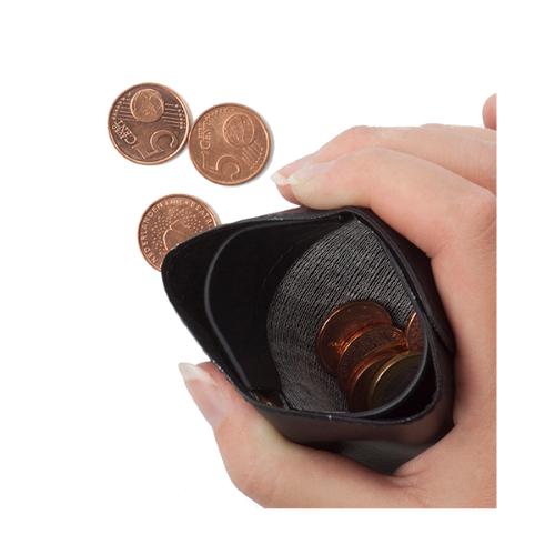 PVC Pinch wallet. in black