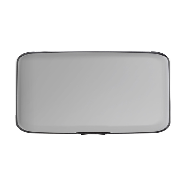 Aluminium purse/credit card holder. in white