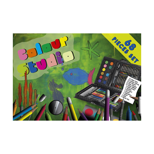 Artists set, 68pc in multicoloured