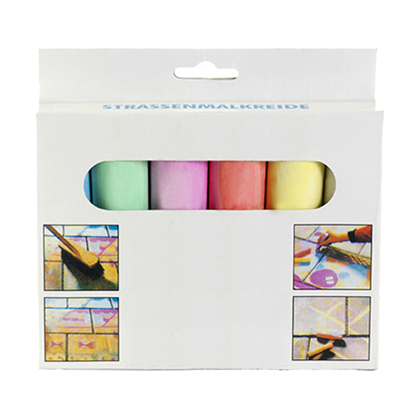 Chalk in six different colours. in multicoloured