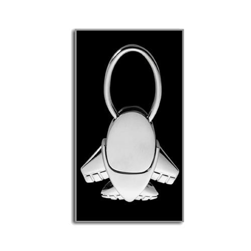 Aeroplane key holder. in silver