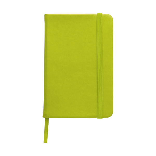 A6 Notebook with a soft PU cover in light-green