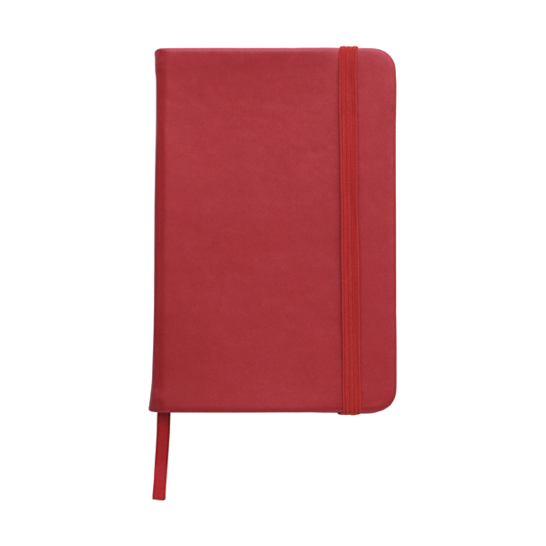 A6 Notebook with a soft PU cover in red