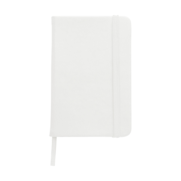 A6 Notebook with a soft PU cover in white