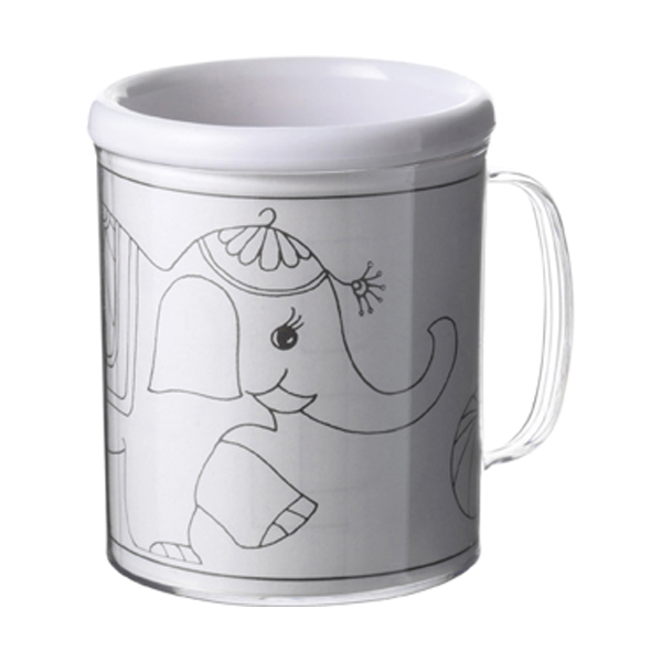 Drawing mug in transparent