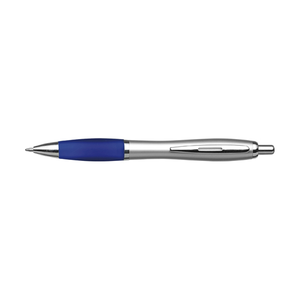Cardiff ballpen with silver barrel. in blue