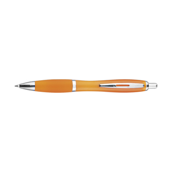 Newport ballpen with blue ink. in orange