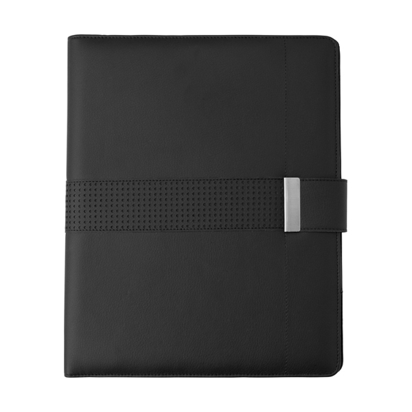 A4 PU Folder with magnetic closing. in black