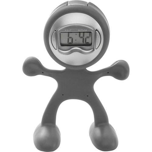 Flexi man alarm clock. in light-grey