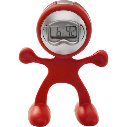 Flexi man alarm clock. in red