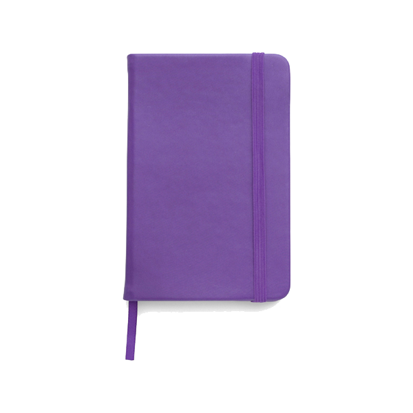 A5 Notebook with a soft PU cover in purple