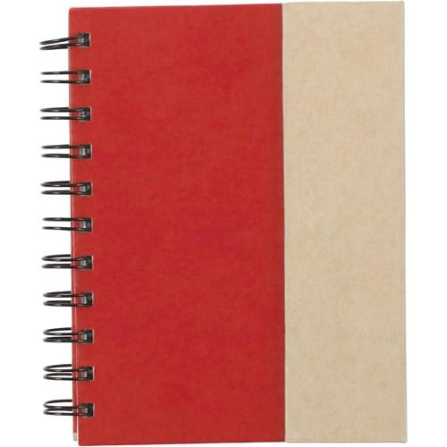 Wire bound notebook. in