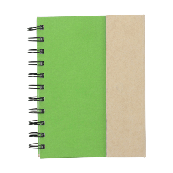 Wire bound notebook. in light-green