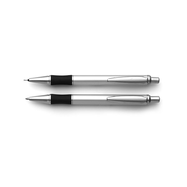 Escape ballpen and pencil set in silver