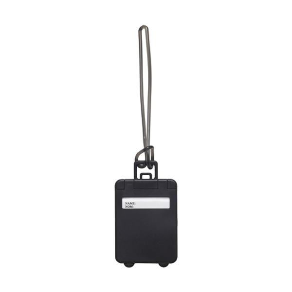 Luggage tag in black