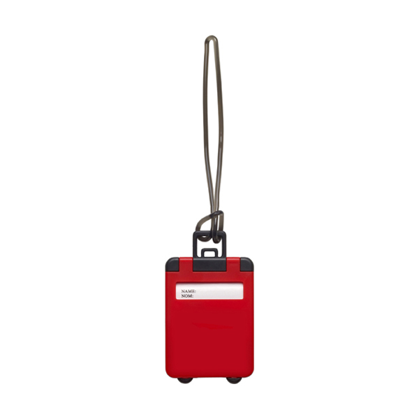Luggage tag in red