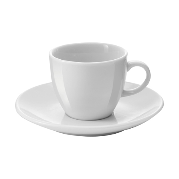 White porcelain cup and saucer, 100cc/ml. sold per 72pcs in white