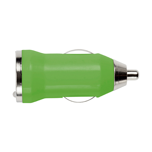 Plastic car power adapter. in light-green