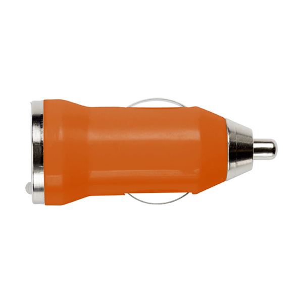 Plastic car power adapter. in orange