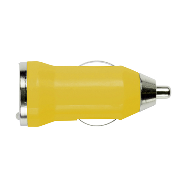 Plastic car power adapter. in yellow