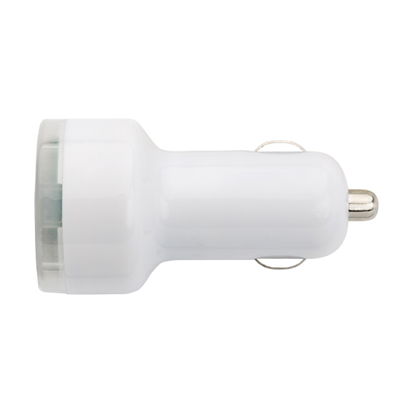 Plastic car power adapter.