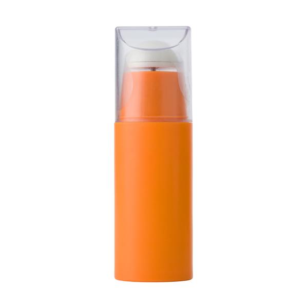 Plastic portable electronic fan. in orange