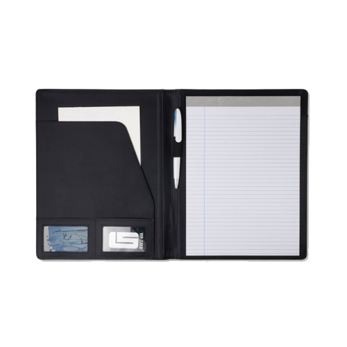 A4 PVC folder. in black