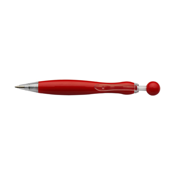 Mirate ballpen with blue ink. in red