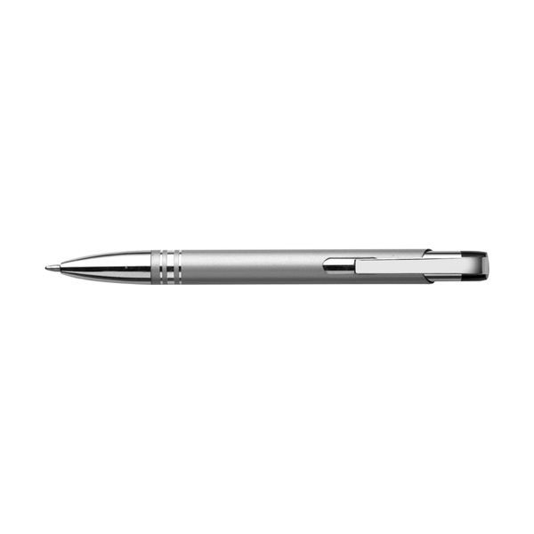 Ballpen with black ink. in silver