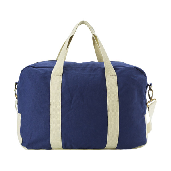Sports bag made of 16oz canvas. in blue-khaki